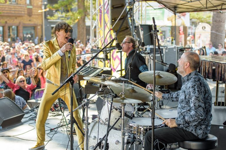 Music band performes on stage at Manly Jazz Festival in Sydney