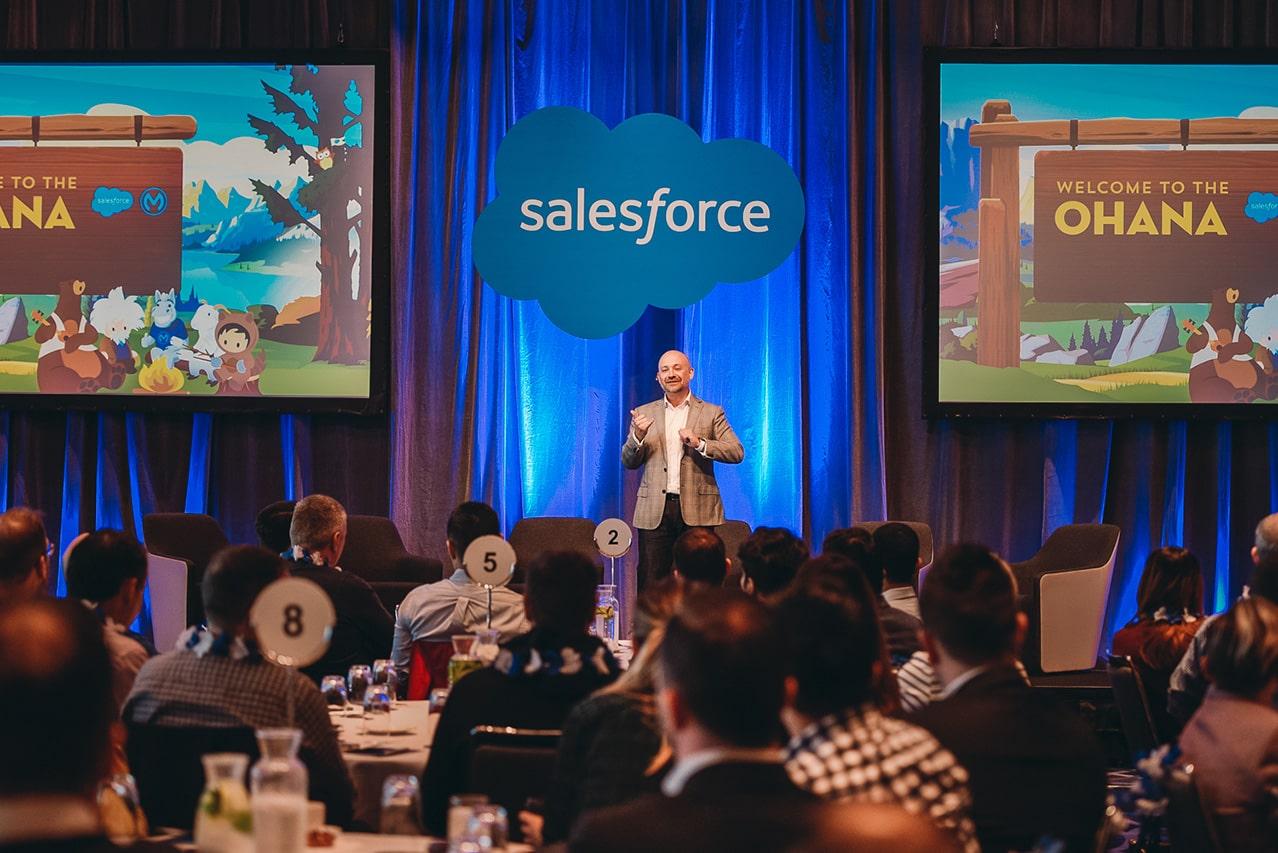 saleforce keynote speaker presents at Hyatt Regency Sydney